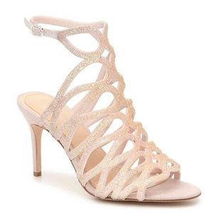 Imagine Vince Camuto Plash Pale Pink Caged Sandal